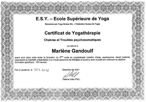 diplome yoga suisse